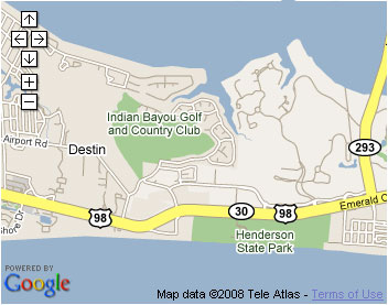 Map of Destin Area from Google